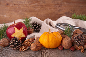 Fall fruit and nuts